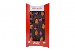 "chocri Schokoladen-Tafel ""Süße Sünde"""