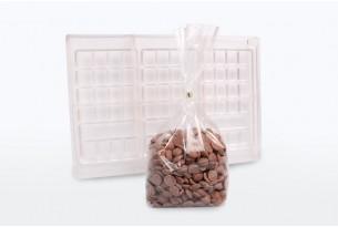 """chocri Schokoladen-Tafelform + Vollmilch-Schoko-Kügelchen """"Voll selbstgemacht"""""""