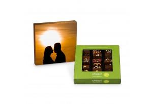 chocri Weltreise 'Vegan' Mini-Schokoladen-Tafeln mit individueller Verpackung Valentinstag
