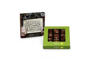 """chocri Weltreise """"Vegan"""" Mini-Schokoladen-Tafeln mit individueller Verpackung"""