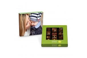chocri Weltreise 'Vegan' Mini-Schokoladen-Tafeln mit individueller Verpackung zum Muttertag