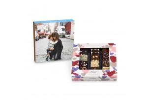 chocri 'Zeit zu zweit' Mini-Schokoladentafeln mit individueller Verpackung zum Muttertag mit voller Banderole