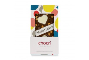 """chocri """"Süße Grüße"""" Schkoladen-Tafel"""