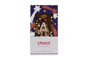 """chocri """"Knusperhaus"""" Weihnachts-Schokoladen-Tafel"""