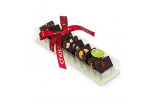 """chocri """"Kleine vegane Weltreise"""" Mini-Schokoladen-Tafeln in Verpackung"""