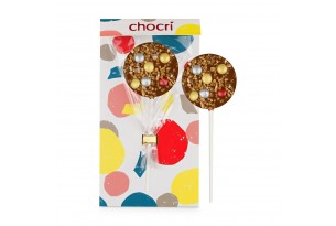 "chocri ""Glitzerkugel"" Schokoladenlolly"