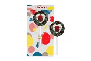 """chocri """"Ehrenmann"""" Schokoladen-Lolly + Verpackung"""