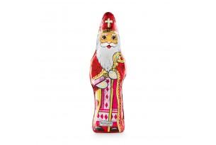 Confiserie 'Sankt Nikolaus' Schokoladenfigur eingewickelt in Alufolie