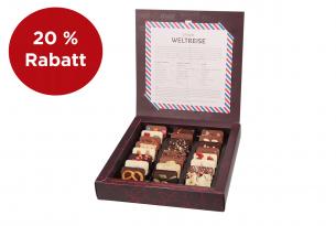 """chocri """"Weltreise"""" Mini-Schokoladen-Tafeln in Verpackung 20% reduziert"""