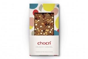 "chocri Schokoladen-Tafel ""Crunchy Caramel"""