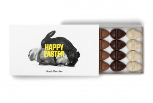 "Simply Chocolate ""Happy Easter"" Schokoladen-Ostereier"
