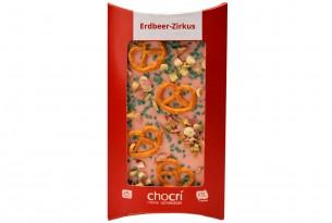 """chocri """"Erdbeer-Zirkus"""" Schokoladen-Tafel"""
