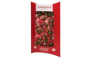 """chocri Schokoladen-Tafel """"Erdbeerfeld"""""""