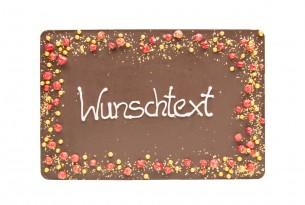 """chocri """"Gruß-Schokoladen-Tafel - Zartbitter"""" mit individuellem Text"""