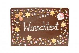 """chocri """"Gruß-Schokoladen-Tafel - Weihnachten"""" mit individuellem Text"""