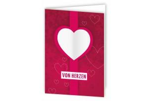 Grußkarte_von Herzen