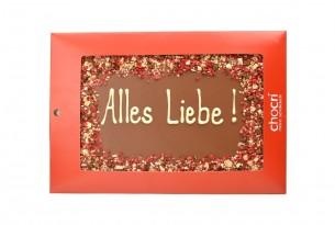 """chocri """"Alles Liebe!"""" Maxi-Gruß-Schokoladen-Tafel"""