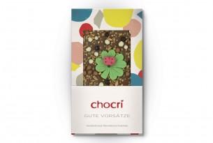 """chocri """"Gute Vorsätze"""" Schokoladen-Tafel in Verpackung"""