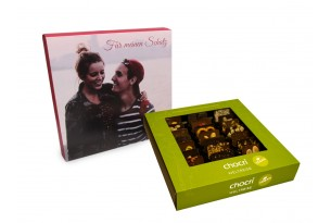 """chocri """"Vegane Weltreise"""" Mini-Schokoladen-Tafeln mit individueller Verpackung"""