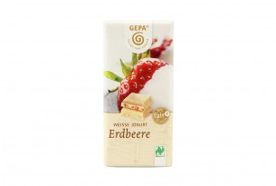"""GEPA """"Weisse Jogurt - Erdbeere"""" Bio-Schokoladen-Tafel"""