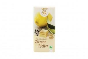"GEPA ""Weisse Jogurt - Zitrone Pfeffer"" Bio-Schokoladen-Tafel"
