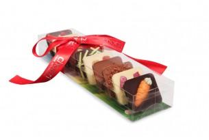"""chocri """"Kleine Weltreise 'Osternest'"""" Mini-Schokoladen-Tafeln"""