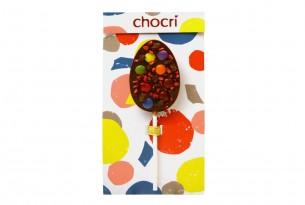 """chocri """"Bubbles"""" Schokoladen-Lolly in Verpackung"""