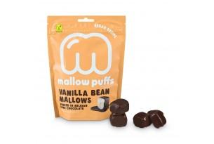 Vegane Marshmallows mit Schokolade und Vanille von Mallow Puffs verpackt
