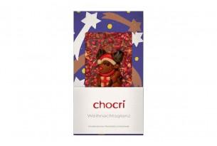"""chocri """"Weihnachtsglanz"""" Weihnachts-Schokoladen-Tafel"""