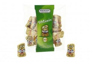 """Confiserie Riegelein """"Minis Hasen"""" Schokoladen-Figuren"""