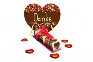 """chocri """"Muttertag"""" Geschenk-Set mit """"Danke"""" Schokoladen-Herz & """"Kleine Weltreise für die beste Mama"""" Mini-Schokoladen-Tafeln"""
