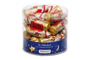 "Confiserie Riegelein ""St. Nikolaus"" Schoko-Figuren in Verpackung"