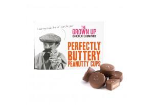 """The Grown Up Chocolate Company """"Perfectly Buttery Peanutty Cups"""" Pralinen in Verpackung"""