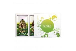 Oster-Schokoladen-Geschenkbox mit 2 Schokoladen-Tafeln