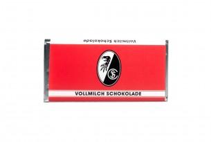 """Mit der Schokoladentafel des """"SC Freiburg"""" schmeckt's einfach besser"""