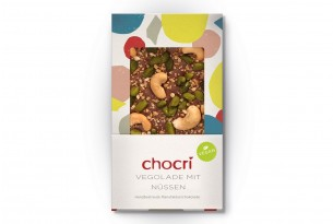"chocri ""Vegolade mit Nüssen"" Vegane Schokoladen-Tafel"