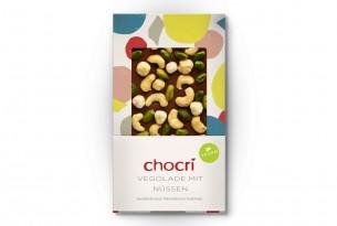 "chocri ""Vegolade mit Nüssen"" vegane Kakao-Tafel"