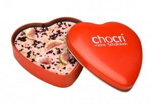 """Herz-Schokoladentafel """"Verliebte Feige"""""""
