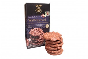 """GEPA """"Waffelgebäck mit Cashews in Vollmilchschokolade"""""""
