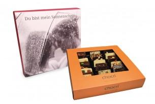 """chocri """"Weltreise"""" Mini-Schokoladen-Tafeln mit individueller Verpackung"""