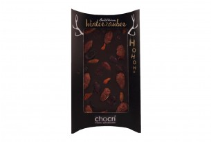 """chocri """"Backstübchen's Winterzauber"""" Blog-Schokoladen-Tafel in Kissenverpackung"""