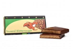 """Zotter """"Tausend Blätternougat"""" Schokoladen-Tafel"""