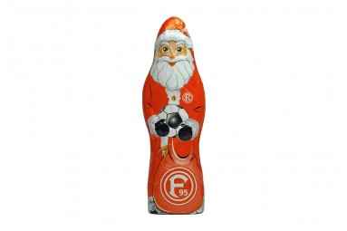 """Schoko-Weihnachtsmann """"Fortuna Düsseldorf"""""""