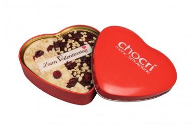 """chocri """"Bessere Hälfte"""" Herz-Schokoladen-Tafel + Geschenk-Dose"""