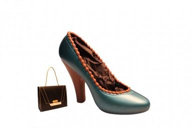 Blauer Schokoladen-High Heel