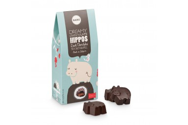 BARÚ 'Dreamy Chocolate Hippos Dark Chocolate Sea Salt Caramel' Pralinen