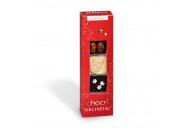 chocri 'Kleine Winterweltreise®' 10 Mini-Schokoladentafeln
