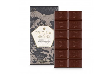 Zuckerfreie Schokolade 'Cusco Chuncho 100%' Zartbitter-Schokoladentafel