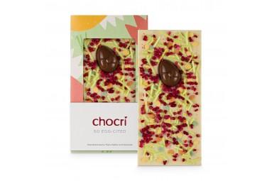 Weiße Schokolade mit Himbeeren 'So Egg-cited'