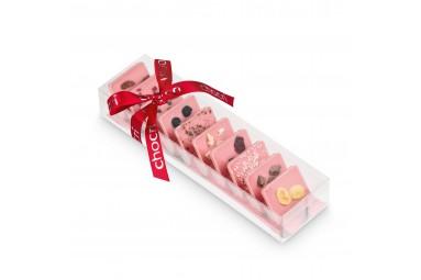 """chocri kleine Weltreise® """"Süße Erdbeerwelt"""" Mini-Schokoladentafeln"""